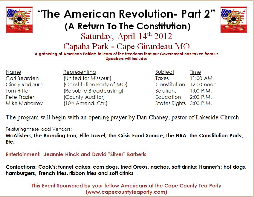 The American Revolution – Part 2, Saturday April 14!