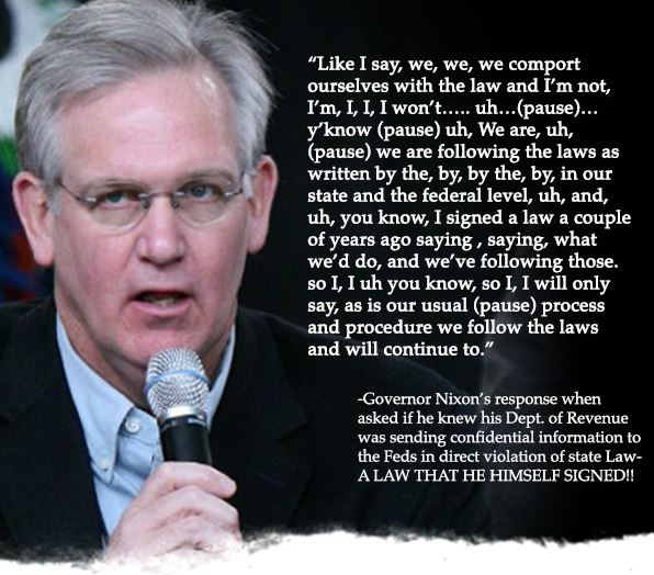 Governor Nixon Continues to Mislead Public on DOR Scandal